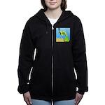 Green Sea Turtle and Tangs Women's Zip Hoodie