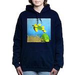 Green Sea Turtle and Tangs Women's Hooded Sweatshi