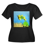 Green Sea Turtle and Tangs Plus Size T-Shirt