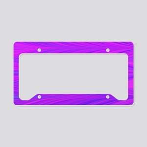 Mauve Zigzag License Plate Holder