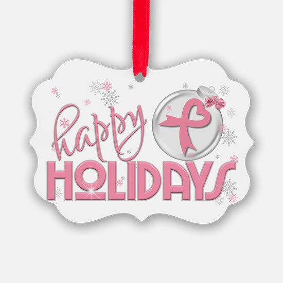 Happy Holidays (breast Cancer) Ornament
