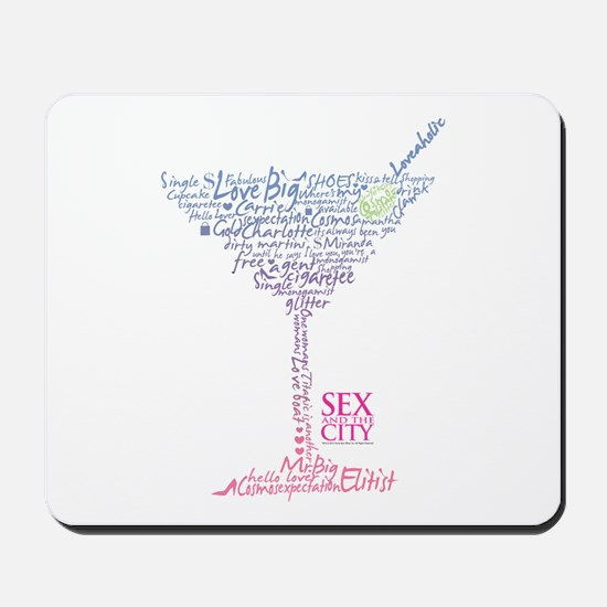 Sex and the City Martini Glass 2 Mousepad