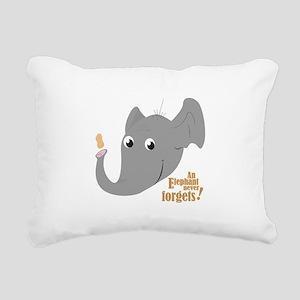 Never Forgets Rectangular Canvas Pillow