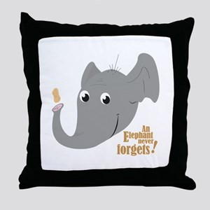 Never Forgets Throw Pillow