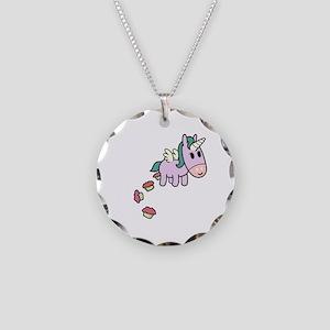 Unicorn Sweets Necklace Circle Charm