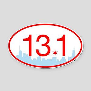 13.1 Chicago Skyline Oval Car Magnet