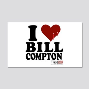 I Heart Bill Compton 20x12 Wall Decal