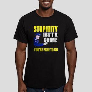 Stupidity Isn't a Crim Men's Fitted T-Shirt (dark)
