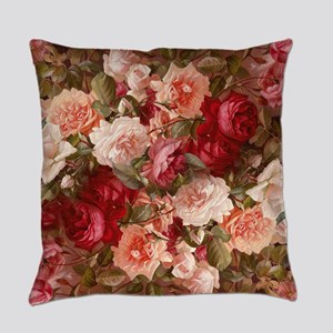 Floral Pink Roses Master Pillow