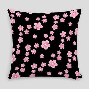 Cherry Blossoms Black Pattern Master Pillow