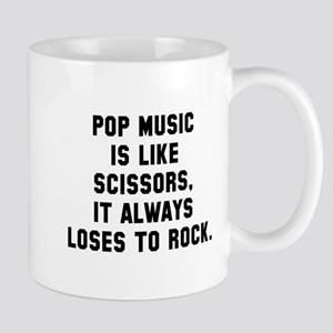 Pop music loses to rock Mug