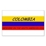 Colombia somewhere Sticker (Rectangle 50 pk)