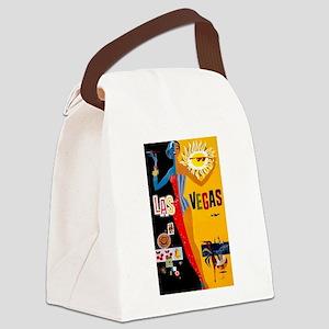 Las Vegas Vintage Canvas Lunch Bag