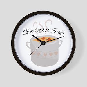 Get Well Soup Wall Clock