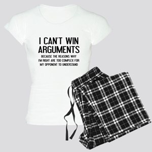 I Can't Win Arguments Women's Light Pajamas