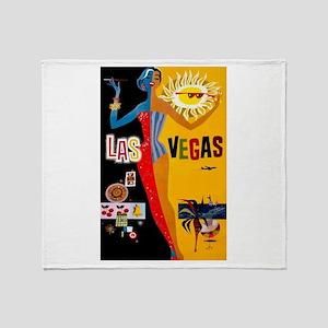 Las Vegas Vintage Throw Blanket