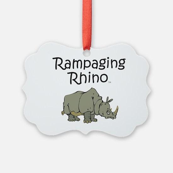 Rampaging Rhino Ornament