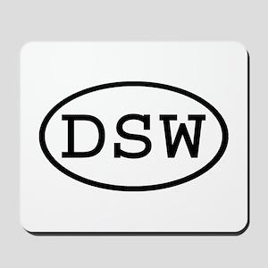 DSW Oval Mousepad