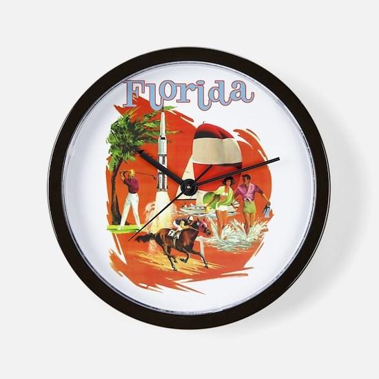 Florida Vintage Wall Clock