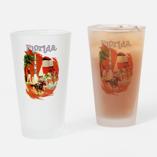 Florida Vintage Drinking Glass