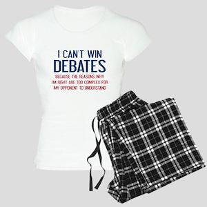 I Can't Win Debates Women's Light Pajamas