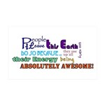 Awesome Words Sticker 35x21 Wall Decal