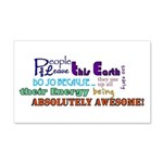 Awesome Words Sticker 20x12 Wall Decal