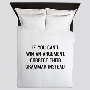 If You Can't Win An Argument Queen Duvet