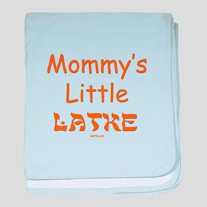 Mommy's Little Latke Chanukah baby blanket