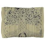 Circle Celtic Tree of Life Ink Pillow Sham