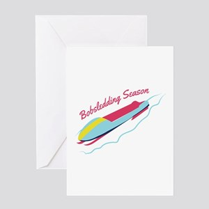Bobsledding Season Greeting Cards