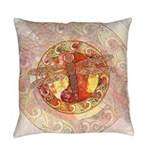 Warm Celtic Dragonfly Master Pillow