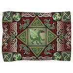 Celtic Dragon Labyrinth Pillow Sham