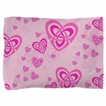 Celtic Pink Hearts Pillow Sham