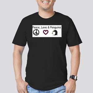 Peace, Love, and Penguins Ringer T-Shirt