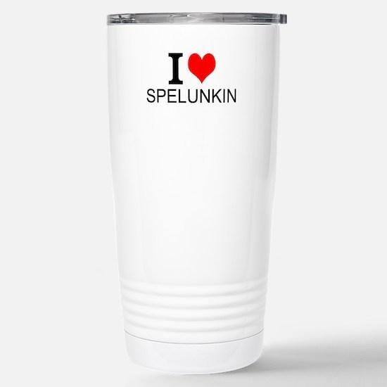 I Love Spelunking Travel Mug