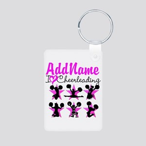 CHEERLEADER 4EVER Aluminum Photo Keychain