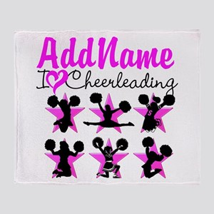 CHEERLEADER 4EVER Throw Blanket
