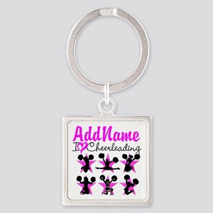 CHEERLEADER 4EVER Square Keychain