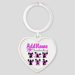 CHEERLEADER 4EVER Heart Keychain