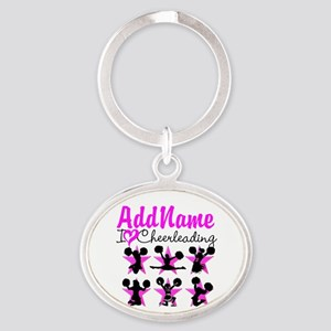CHEERLEADER 4EVER Oval Keychain