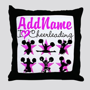 CHEERLEADER 4EVER Throw Pillow