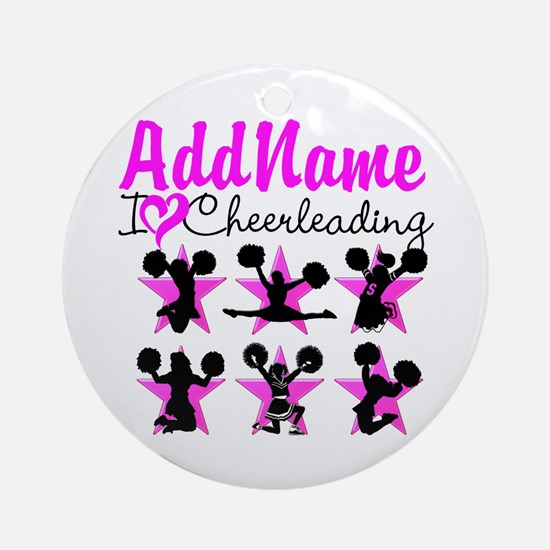 CHEERLEADER 4EVER Ornament (Round)