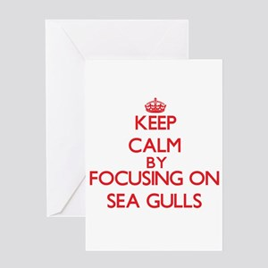 Keep Calm by focusing on Sea Gulls Greeting Cards