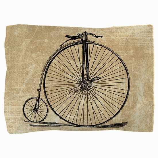 Vintage Penny Farthing Bicycle Pillow Sham