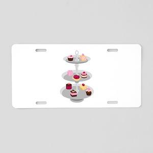 Tiered Dessert Trays Aluminum License Plate
