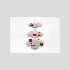 Tiered Dessert Trays 5'x7'Area Rug
