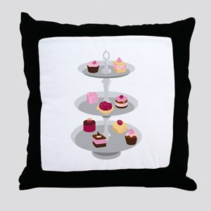 Tiered Dessert Trays Throw Pillow