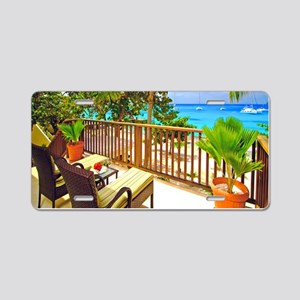 Tropical Delight Aluminum License Plate