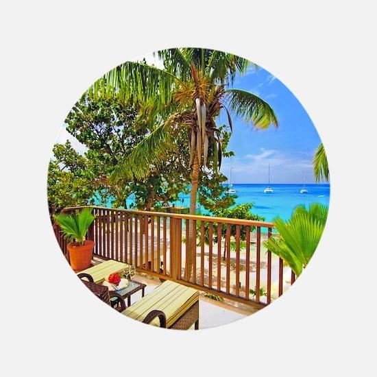 """Tropical Delight 3.5"""" Button"""